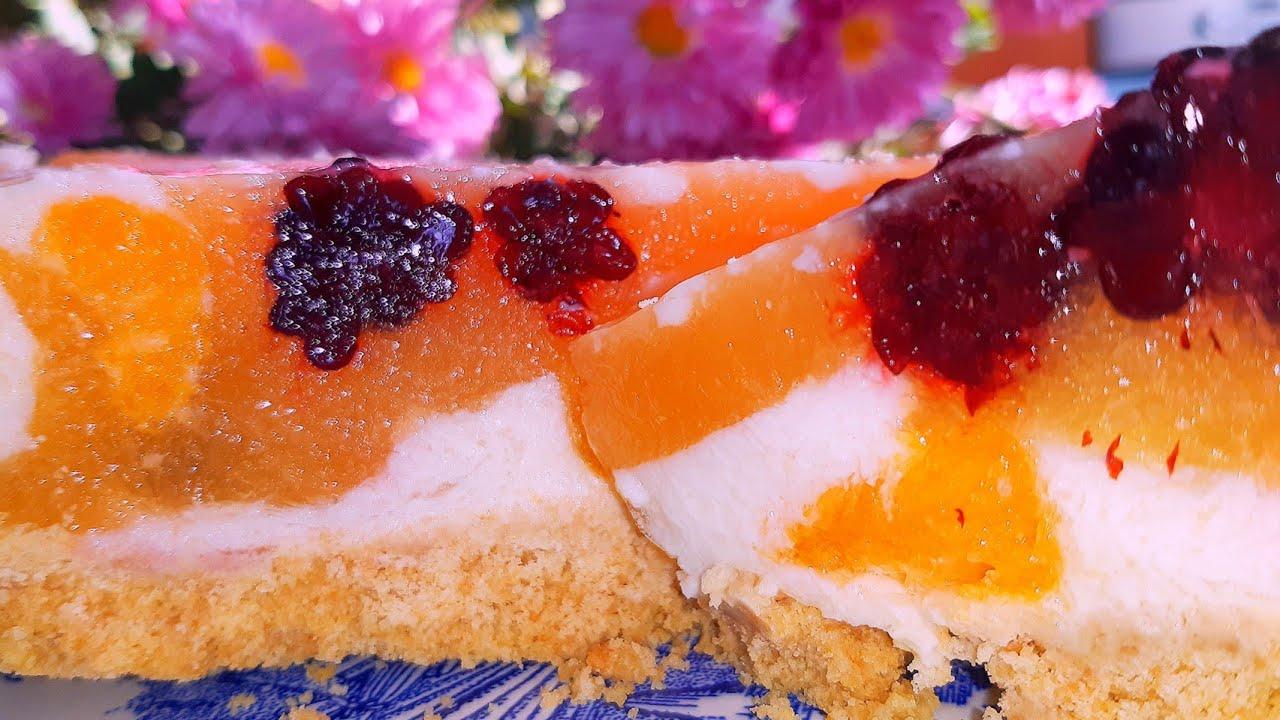 Быстрый фруктовый торт без выпечки. Вкусно и Просто