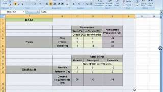 Spreadsheet Modeling Tutorials: Supply Network Planning Decision Model Example (Part 1)