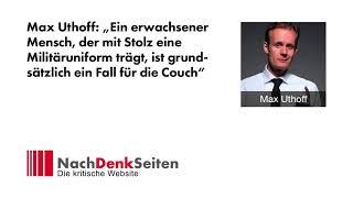 Marcus Klöckner im Interview mit Max Uthoff (Die Anstalt) | NachDenkSeiten-Podcast