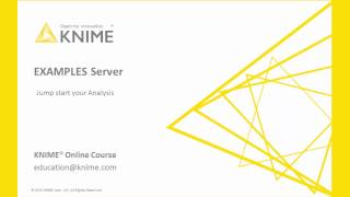KNIME EXAMPLES Server