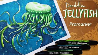 How to draw a Dandelion Jellyfish - Promarker tutorial