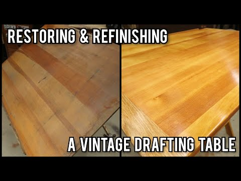Restoring And Refinishing A Vintage Drafting Table Desk | Furniture Repair Restoration How To