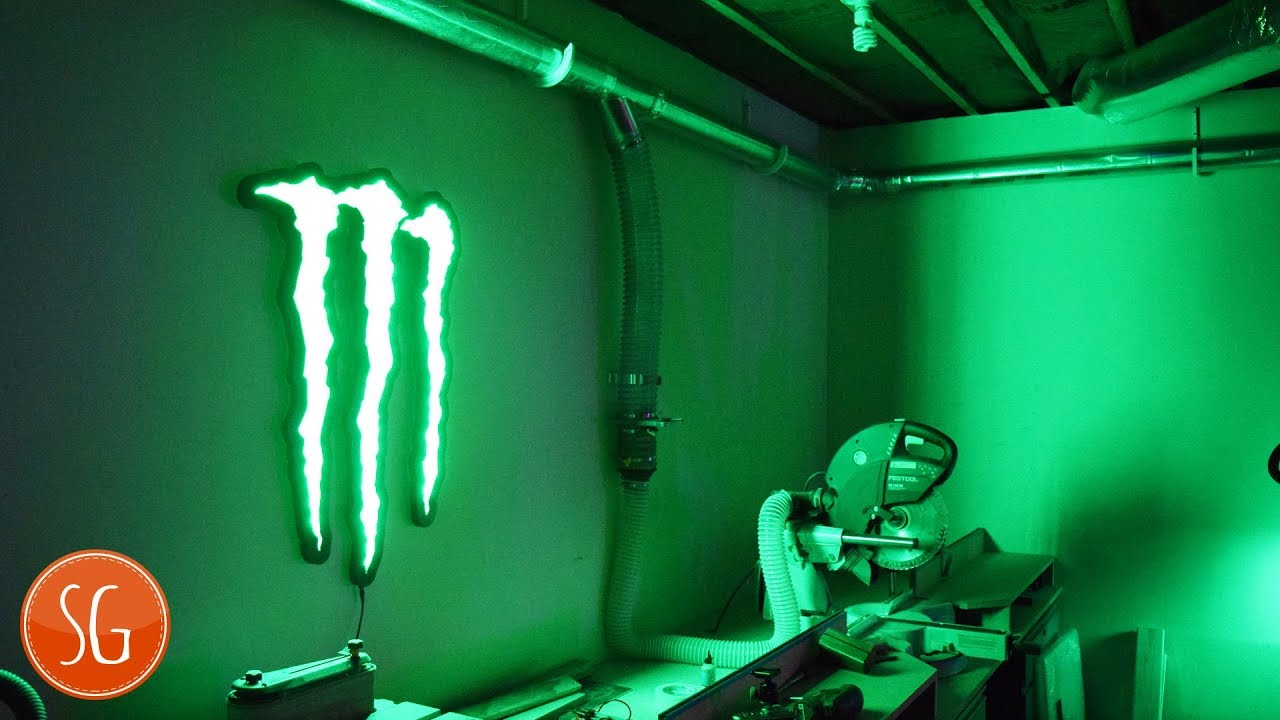 How To Make A Monster Energy Wall Sign Youtube