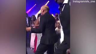 Video: Christian Louboutin loosens up at Idris Elba's wedding reception