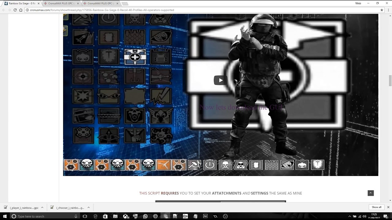 Rainbow Six Siege - 0 Recoil - 40 Profiles - All operators supported