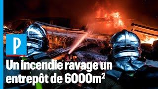Aubervilliers : un incendie ravage un entrepôt de 6000 m²