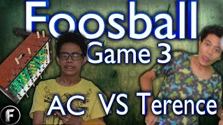 Foosball (table-soccer): Game 3 Ac Vs Terence | Sweat Dripping Hands Sweating