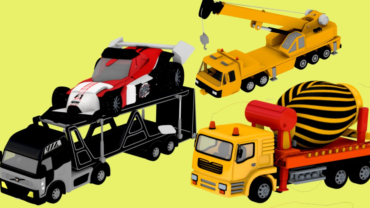 Construction And Machinery With Crane Hydra Truck For