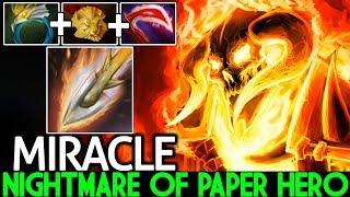 MIRACLE [Clinkz] Nightmare of Paper Hero Unreal Damage 7.23 Dota 2