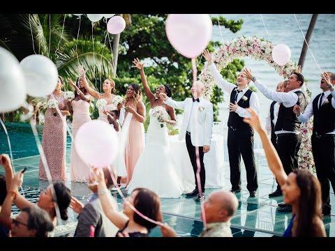 Naomi and Jase destination wedding Conrad Koh Samui, Thailand