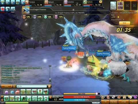 Dragonica – lv63 Bombardier –  Freonos (Ice Dragon) Gameplay