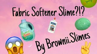 Testing to see if fabric softener works for slime !!
