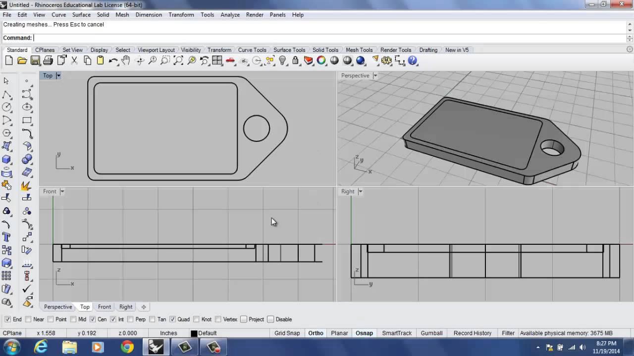 Rhino 3d tutorial 3d print dog tag part 2 youtube rhino 3d tutorial 3d print dog tag part 2 baditri Choice Image
