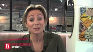 Anne-Sophie Lapix : une minute avant