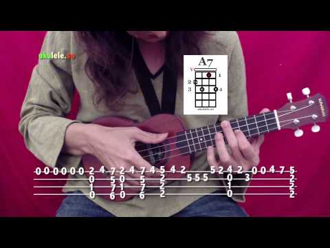Как играть на укулеле Wonderwall - Oasis