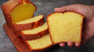 Super Spongy Hot Milk Cake Recipe  Easy Hot Milk Cake  Yummy