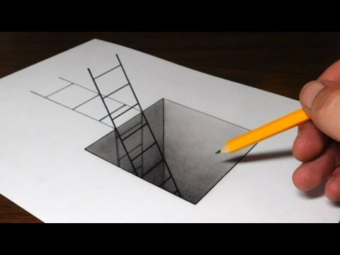 Thumbnail: How to Draw a Ladder in a Hole - 3D Trick Art for Kids