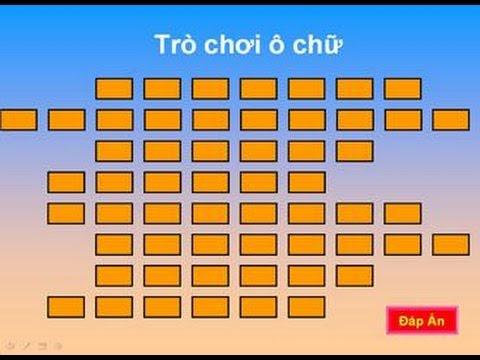 Hướng dẫn tạo trò chơi ô chữ bằng Powerpoint