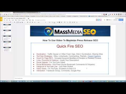 How To Use Video To Maximize Press Release SEO
