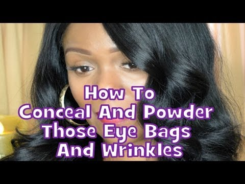 How To Conceal And Powder Those Eye Bags And Wrinkles - 동영상