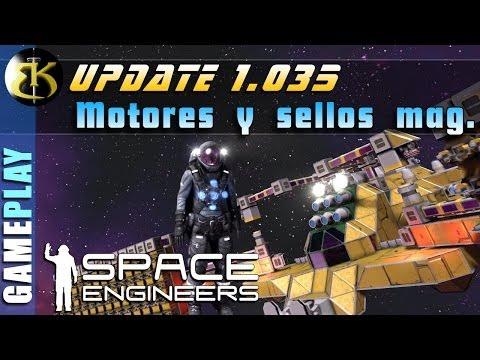 1.035 Modificacion de motores y sellos magneticos ► SPACE ENGINEERS ► Gameplay español