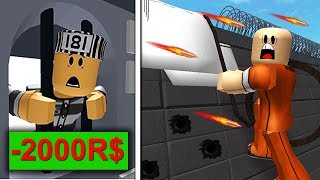 ESCAPE FROM JAIL! 2000 ROBUX ROAD! (Roblox Obby)