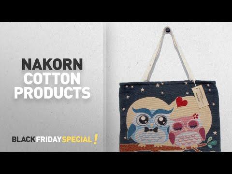 Top Black Friday Nakorn Cotton Products: Handbag Cotton Women's Handmade Thai Canvas Shoulder Bag