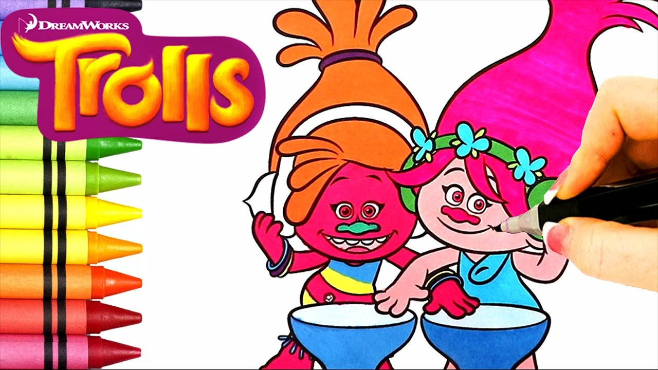 coloring book ep trolls movie coloring book episode poppy dj suki cooper