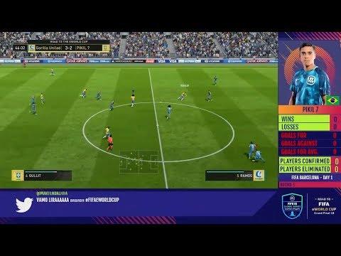 HUGE GORILLA VS WENDELL LIRA - 1ST LEG - FUT CHAMPIONS CUP BARCELONA - FIFA 2018