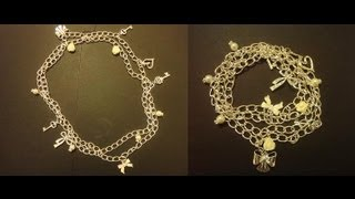 Diy Chain Necklace With Charms / Wrap Charm Bracelet Super Easy
