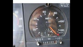 Без ограничений  с помощью магнита Scania 124. Speed. Положил спидометр. Антитахограф