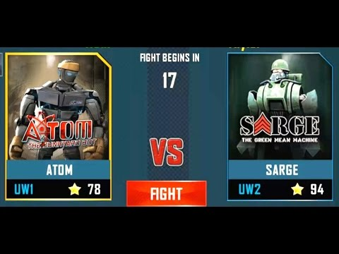 REAL STEEL WRB Atom VS Sarge New Robots UPDATE (Живая Сталь)