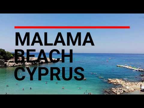 MALAMA BEACH CYPRUS - UNMISSABLE DRONE FOOTAGE