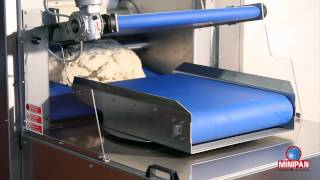 Minipan RAFF dough breaker for sandwich bread and rusks
