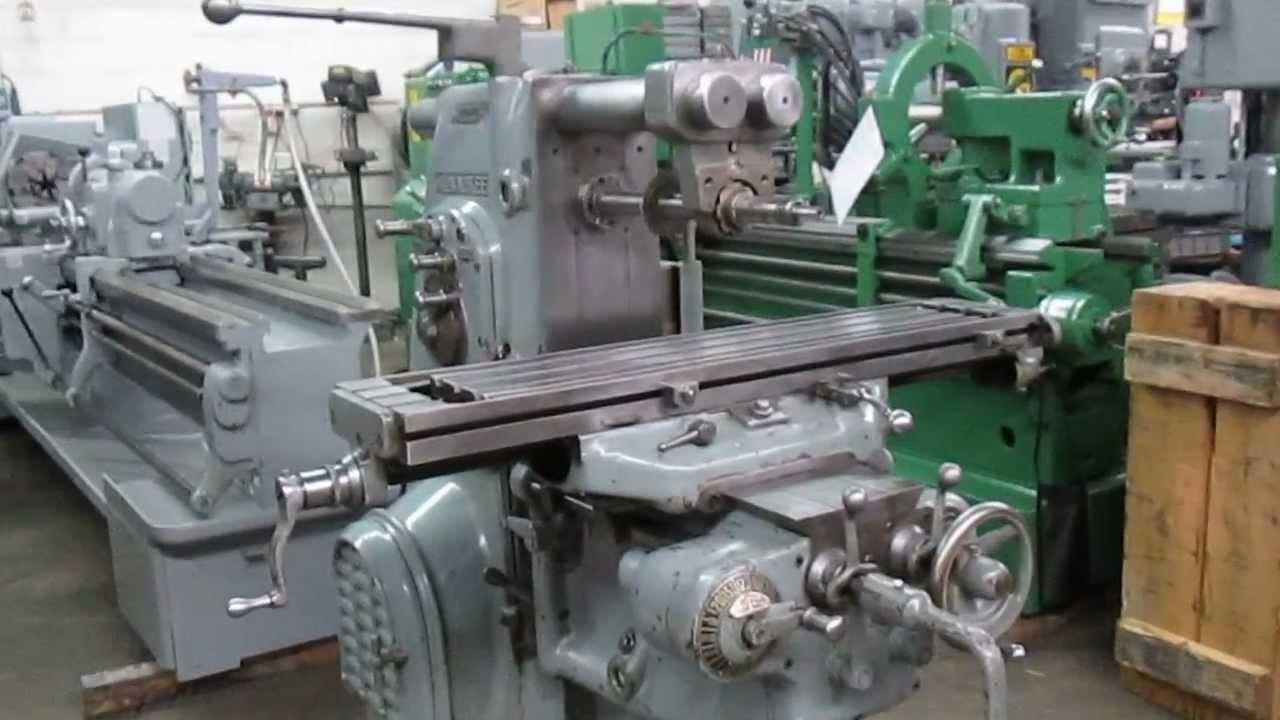used kearney trecker model h horizontal mill super shape youtube rh youtube com Milwaukee Horizontal Milling Machine Sketch Milwaukee Horizontal Milling Machine Sketch
