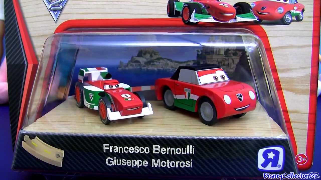 Disney Cars Toys Youtube: Cars 2 Wood Francesco Bernoulli Wooden Giuseppe Motorosi