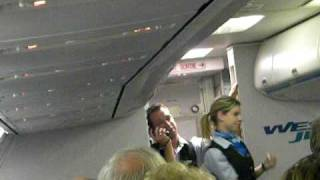 Hilarious Westjet Flight Attendant