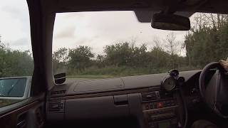 Mercedes E55 AMG V8 rear mount Holset HX55 turbo