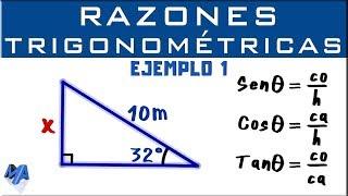 Razones Trigonométricas | Hallar un lado | Ejemplo 1 thumbnail