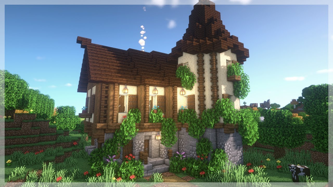How to Build a Medieval Starter House in Minecraft!!! [Minecraft House Tutorial]