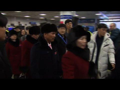 Raw: N.Korean Olympic Athletes Arrive In S.Korea