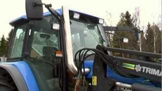 New Holland TM 150 -STRAIGHT PIPE TURBO WHISTLE SOUND !!