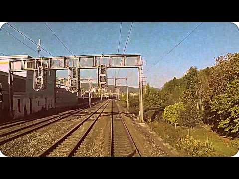 Slow TV - video of a train travelling through Switzerland Part 1