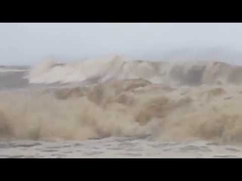 Wave Action from Tropical Storm Madeline . . .