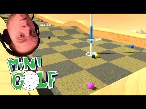 LOW GRAVITY Mini Golf With The Crew! (Golf With Friends) Amazing Hole In One!