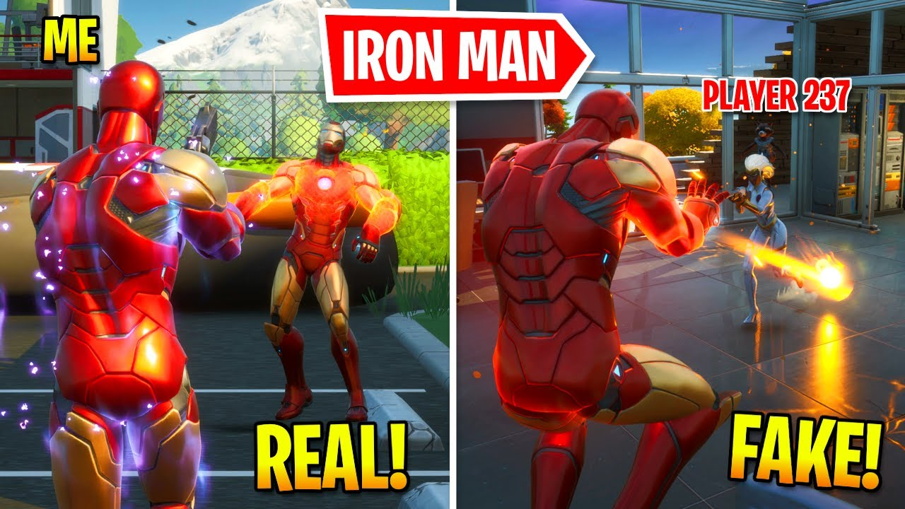 I Pretended To Be BOSS Iron Man In Fortnite