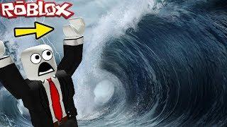 """TSUNAMI TIDAL WAVE SURVIVAL"" (Roblox Tsunami, Roblox Natural Disasters Survival, Roblox Fails)"
