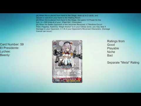 Kantai Collection: European Fleet Weiss Schwarz Set Review - Red