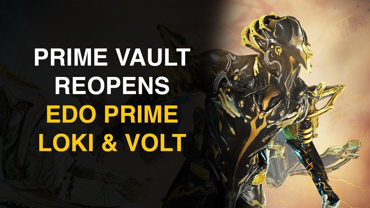 Volt & Loki Prime Vault Opens April 30th (Warframe)