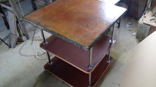 Как сделать садовый столик(Делаем простой и удобный садовый столик своими руками. Простой мастер класс. как сделать столик как сделат..., 2015-03-05T18:50:51.000Z)
